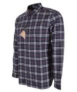New Burberry Brit Men's ALEXANDER Navy Nova Check Cotton Long Sleeve Shi... - $216.81