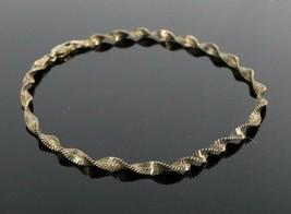 Vintage .925 Sterling Silver Signed DANECRAFT Gold Tone Twist Link Brace... - $17.62