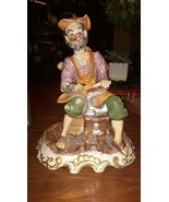 VINTAGE CAPODIMONTE FIGURINE MADE IN ITALY SHOEMAKER COBBLER RARE PORCEL... - $36.63