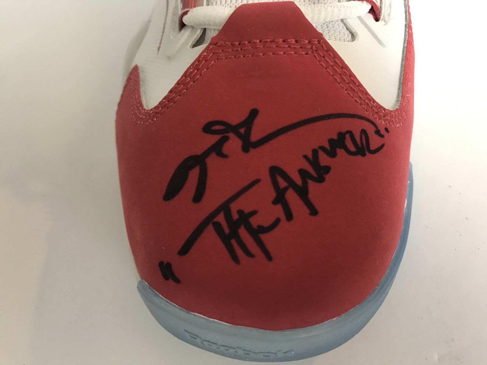 "ALLEN IVERSON SIGNED Q96 REEBOK SHOES INSCRIBED ""ANSWER"" PAIR JSA COA"