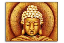 Golden or Silver Sun Buddha. Oil Painting on Canvas. 60x80cm. Fairtrade - $36.00