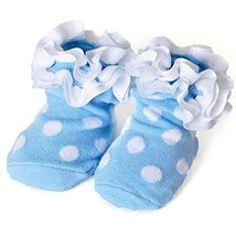 Baby Socks Lovely Cotton Summer Infant Socks 0-12 Months(White Dot)