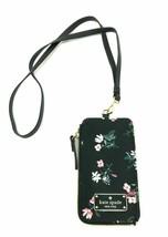 Kate Spade Edria Wilson Road Flora Black Nylon Card Holder Wallet WLRU5250 recpt - $42.54