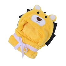 Baby's Blanket Cartoon Animal Design Soft Comfy Hooded Multipurpose Blanket