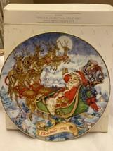 "Avon Vintage 1993 SPECIAL CHRISTMAS DELIVERY Porcelain 8"" Plate 22K Gold... - $9.75"