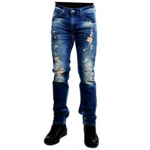 Distressed Salvatore Galliano Jeans Men Blue Size 38/32 - $179.54