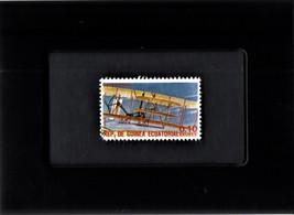 Tchotchke Framed Stamp Art Collectable Postage Stamp - 1903 Early Bi-plane - $8.95