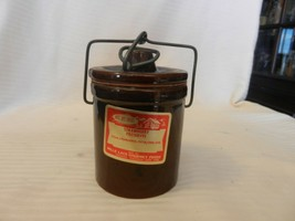 Mille Lacs Brown Stoneware Cheese Jam Crock, Locking Top Hermetic Seal  ... - $39.59