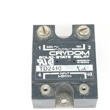 CRYDOM TD-2410 SOLID STATE RELAY TD2410 (MISSING 2 SCREWS) 240V, 10A