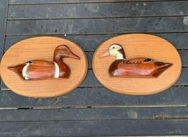 "3D Duck Wall Art, Vintage Wood Wall Plaques, Artist Signed Sindi, 11.75"" - $48.50"