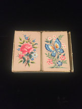 """Vintage W. P. Co. Double Playing Card Boxed set- #8902 """"Crewel Work"""" image 2"""