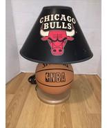 Vintage 1997 NBA Chicago Bulls Spalding Basketball Lamp Michael Jordan - $89.09