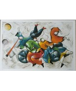 Signed DAVID SCHLUSS - DANCING WITH MUSIC - Artist Proof Serigraph Art P... - $3,027.59