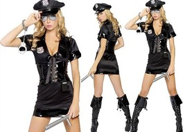 sexy police cop officer woman Halloween costume - $30.00