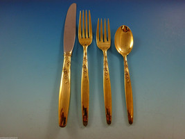 Summer Song Gold by Lunt Sterling Silver Flatware Service For 12 Set Ver... - $3,600.00