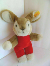 Steiff rabbit dangling button/flag made in Germany 1588 - $47.49