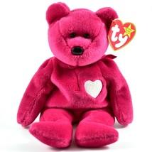 1999 TY Beanie Baby Original Valentina Valentines Teddy Bear Beanbag Plu... - $4.99