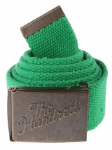 """The Hundreds Green Sneak Scout Web Belt """"Distressed"""" NWT"""