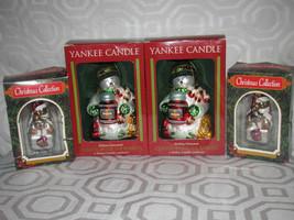Christmas 8 Yankee Candle Glass Snowmen-Glass Hallmark Teddy Bear-Snowmen - $29.99