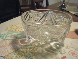 AMERICAN BRILLIANT CUT GLASS FOOTED BOWL - $71.10