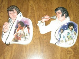 Elvis Presley Live And On Stage First & Second Issue Ceramic Plate Rare The King - $51.08