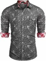 COOFANDY Men's Button Down Long Sleeve Slim Fit Casual Paisley Dress Shirt - 2XL image 2