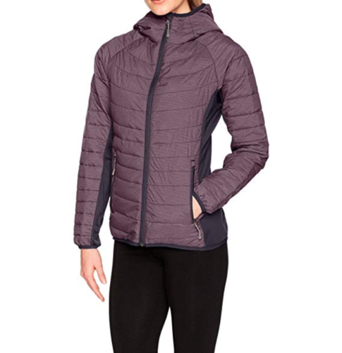Small 4-6 Women's White Sierra Zephyr Hooded Insulated Puffer Jacket Nightshade