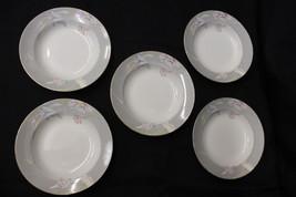 "Set of 5 Vintage Mikasa Fine China ""CHARISMA GRAY"" Pattern #L9049 Rim So... - $49.99"