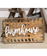 Farmhouse Tobacco Basket Wall Art Country Classic Wood letters Kitchen H... - $46.99