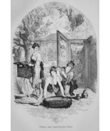 JAPAN Toilette of a Japanese Lady - 1882 Wood Engraving - $19.80