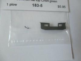 Trainworx Stock #183-5 Snowplow Common Flat Top CNW Green N-Scale image 1