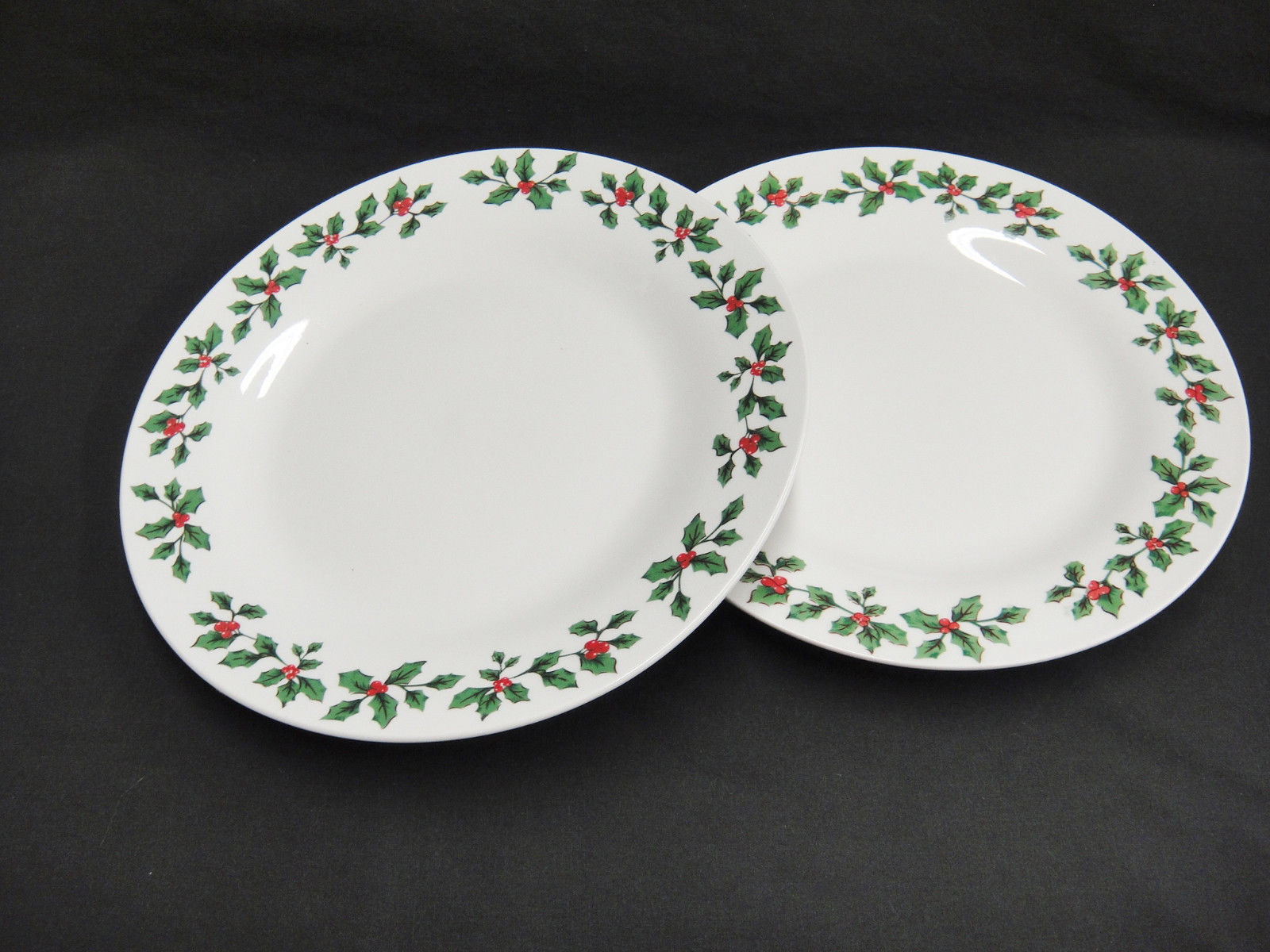 Royal Norfolk Christmas Dinner Plates 10.5  Holly Border Lot of 2 HTF - $24.74 & Royal Norfolk Dinner Plates: 1 listing