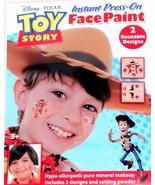 Disney TOY STORY Instant Press-On Face Paint WOODY Cowboy 2 Reusable Des... - $28,24 MXN