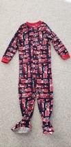 Carter's One-Piece Footed Fleece Pajamas Firetrucks 5T - $6.35