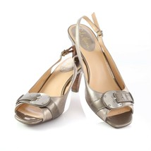 Cole Haan Metallic Leather Slingback Sandals Open Toe Shoes Womens 7 SN ... - $49.39