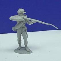 Marx civil war toy soldier gray south confederate vtg figure firing squa... - $16.78