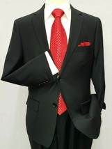 Mens suit Mantoni 100% Wool Two Button Side Vents formal or Business 409... - $169.96