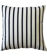 Pillow Decor - Sunbrella Lido Indigo Stripes 20x20 Outdoor Pillow - $39.95