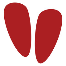 LiteMark Red Removable Alien Footprint Decal Stickers - Pack of 12 - $19.95