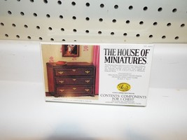 1 Brand New Vintage House of Miniatures Kit for 1 Chippendale 3 Drawer C... - $8.79