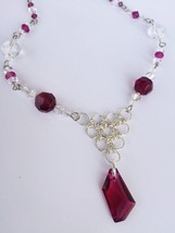 Crystal and Chainmaille Necklace - $26.00