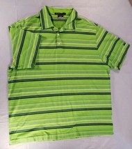 Nike XL Tiger Woods Collection Dri Fit Green White Stripe Polo  - $24.23
