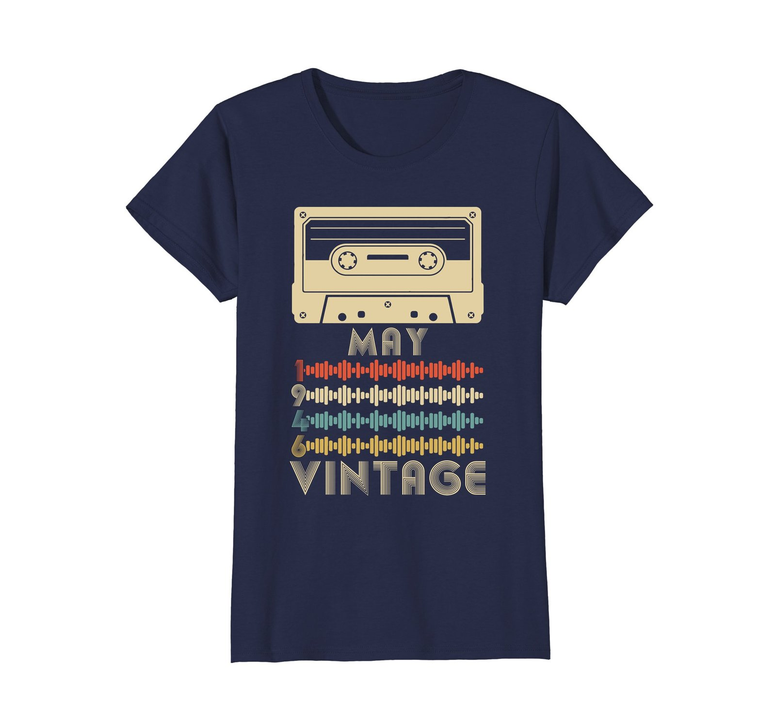 Funny Shirts - Vintage Retro Made In May 1946 72nd Birthday Gift 72 yrs old Wowe