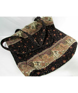 Vera Bradley Paisley Quilted Cotton Tote Interior Pockets Women's Should... - $54.44