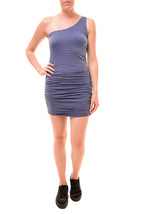 Sundry Women's Fitted One Shoulder Dress Striped Ink Size US 1 RRP $140 ... - $83.30
