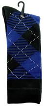 Goldstar Mens Argyle Socks Casual Blue Black Diamonds Cotton Blend Crew ... - $12.95