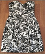 Rubber Ducky Dress Size Small Metallic Strapless Party Formal - $24.75