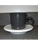 Vintage Noritake Primastone Counterpoint Black and White Cup and Saucer  - $4.99