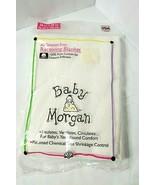 "New Sealed Vtg BABY MORGAN White All-Season Cotton Receiving Blanket 30""... - $46.48"