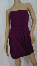 FRENCH CONNECTION Purple Pleated Strapless Dress Size 6 - $7.16